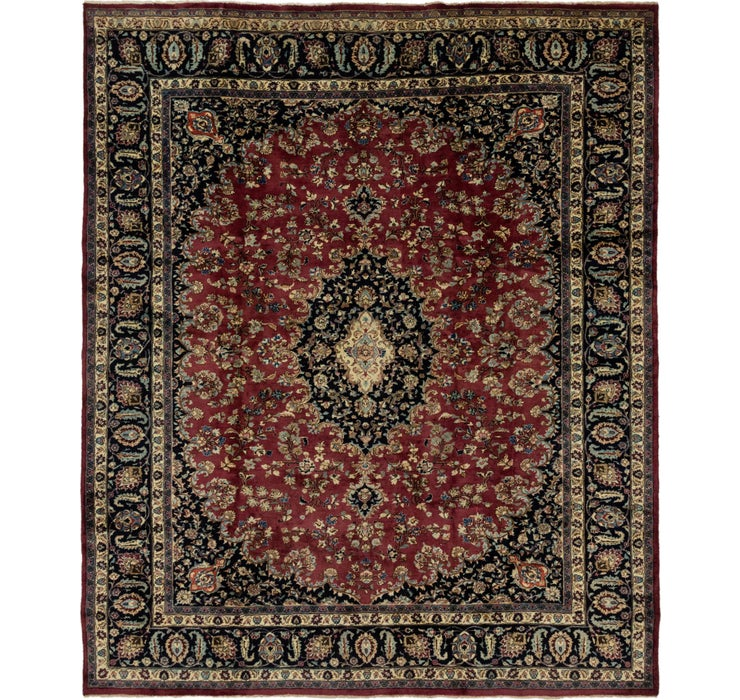 300cm x 353cm Mashad Persian Rug
