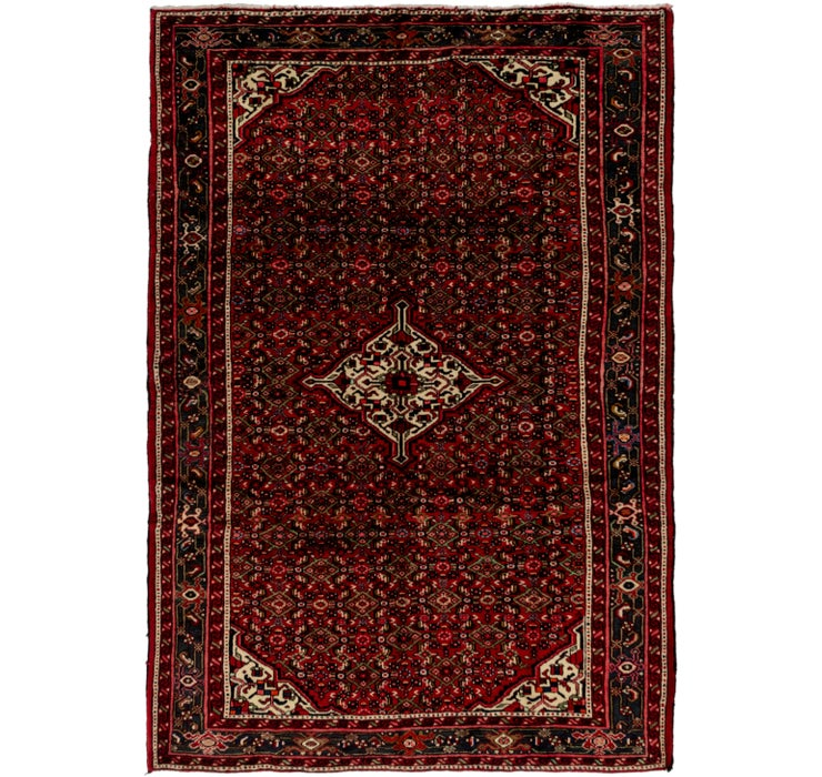 208cm x 305cm Hossainabad Persian Rug