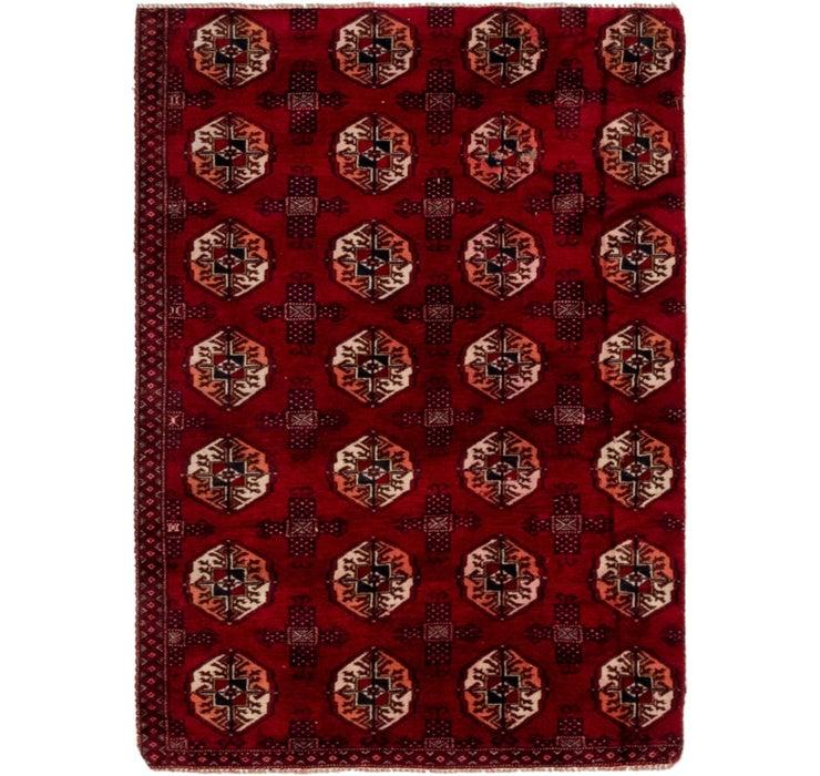 3' 2 x 4' 7 Torkaman Persian Rug