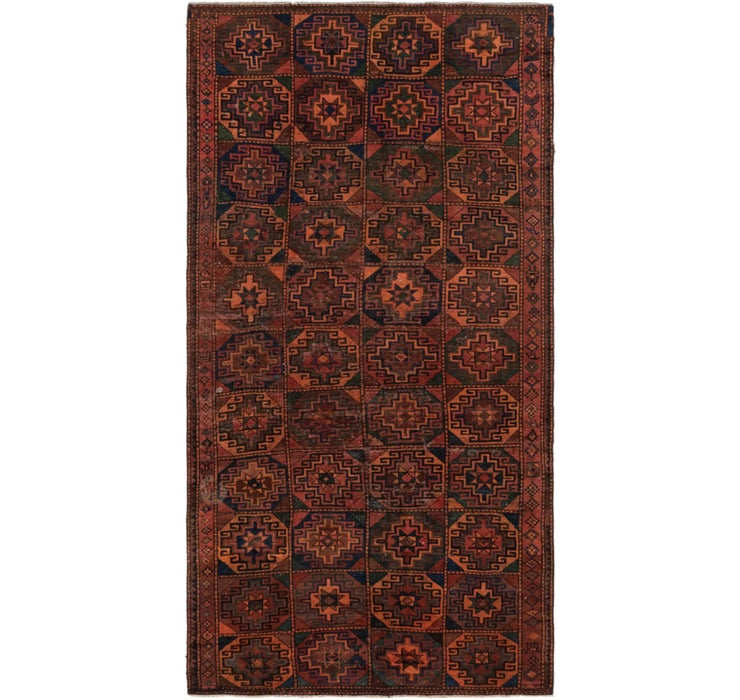 4' 9 x 9' 9 Shiraz Persian Rug