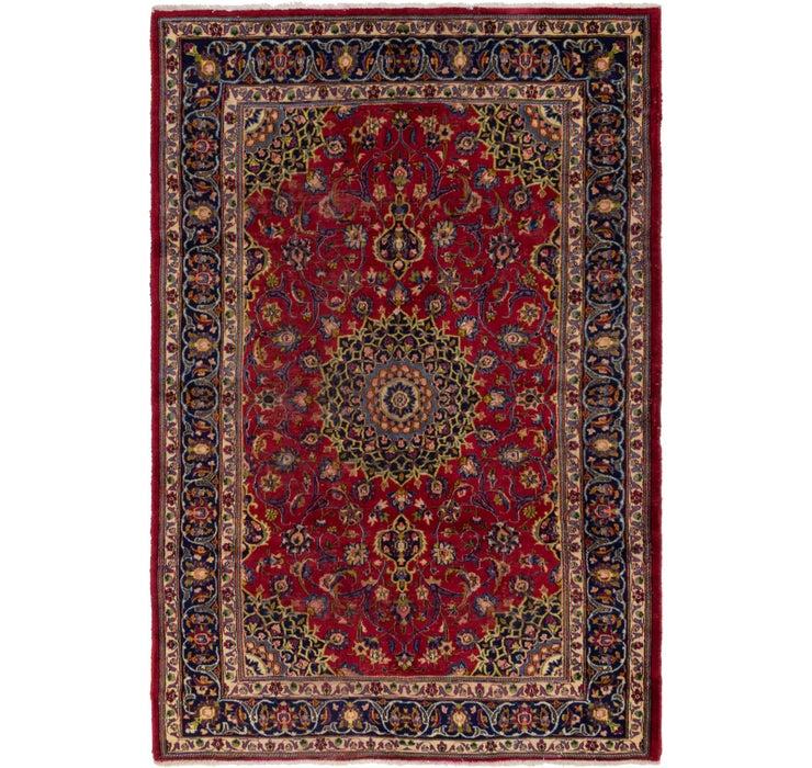 6' 7 x 10' Mashad Persian Runner Rug