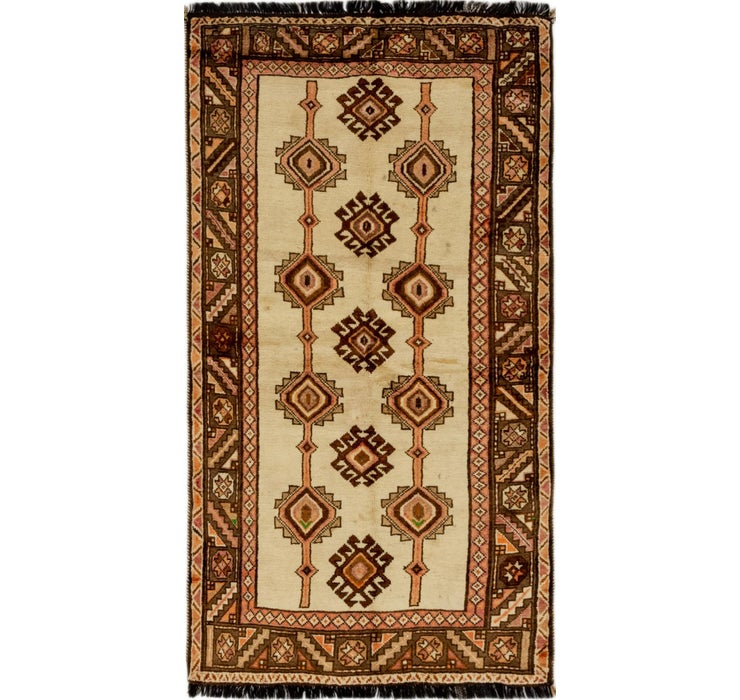 3' 7 x 6' 10 Shiraz Persian Rug