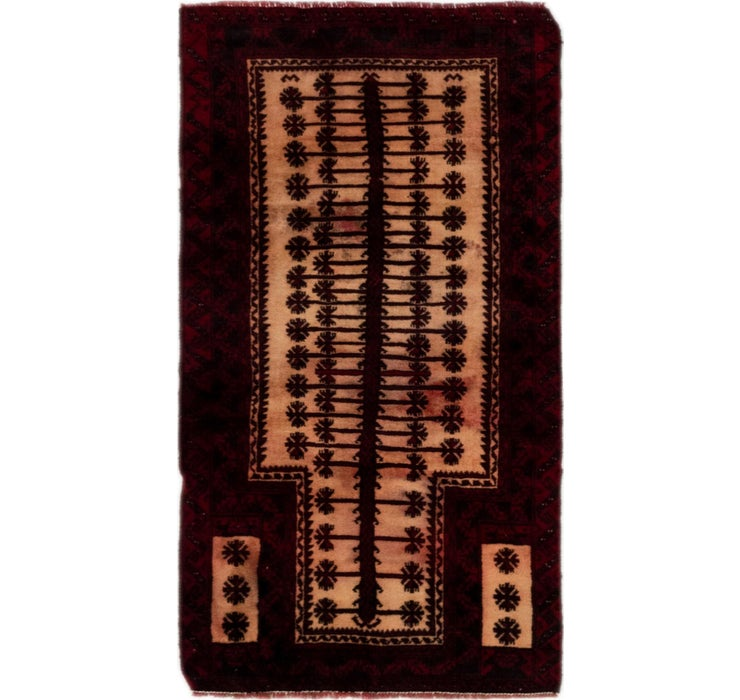 Image of 2' 8 x 4' 9 Balouch Persian Rug