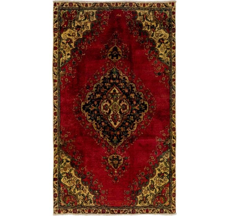 4' 5 x 7' 9 Tabriz Persian Rug