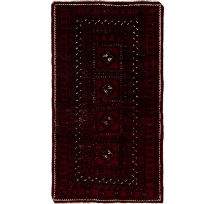 105cm x 183cm Balouch Persian Rug