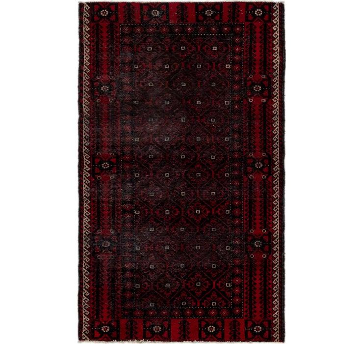 4' x 6' 7 Balouch Persian Rug