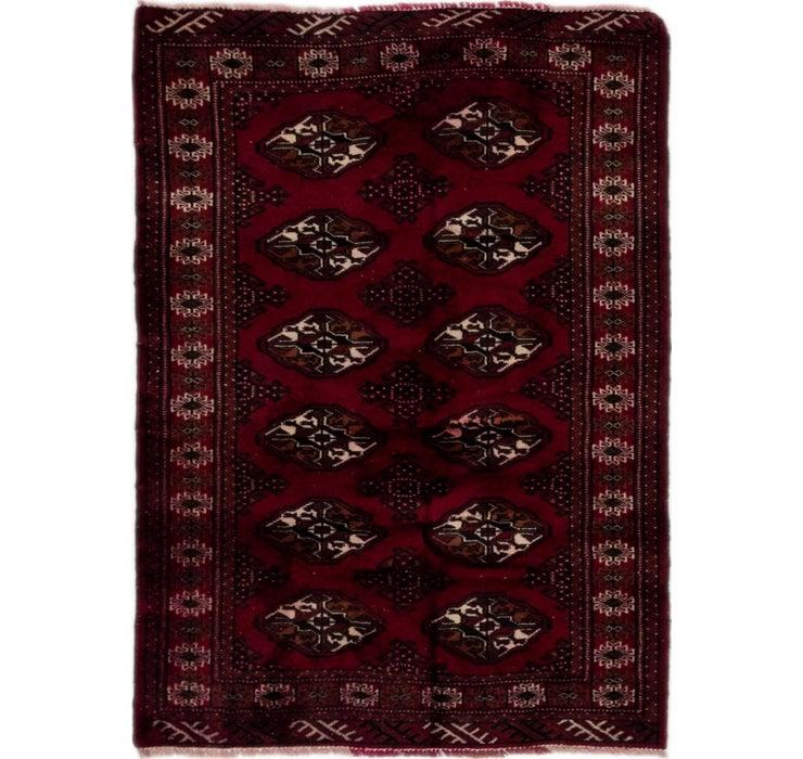 102cm x 142cm Torkaman Persian Rug