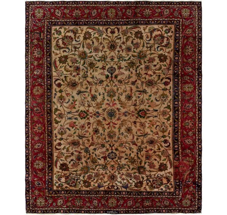 277cm x 358cm Tabriz Persian Rug