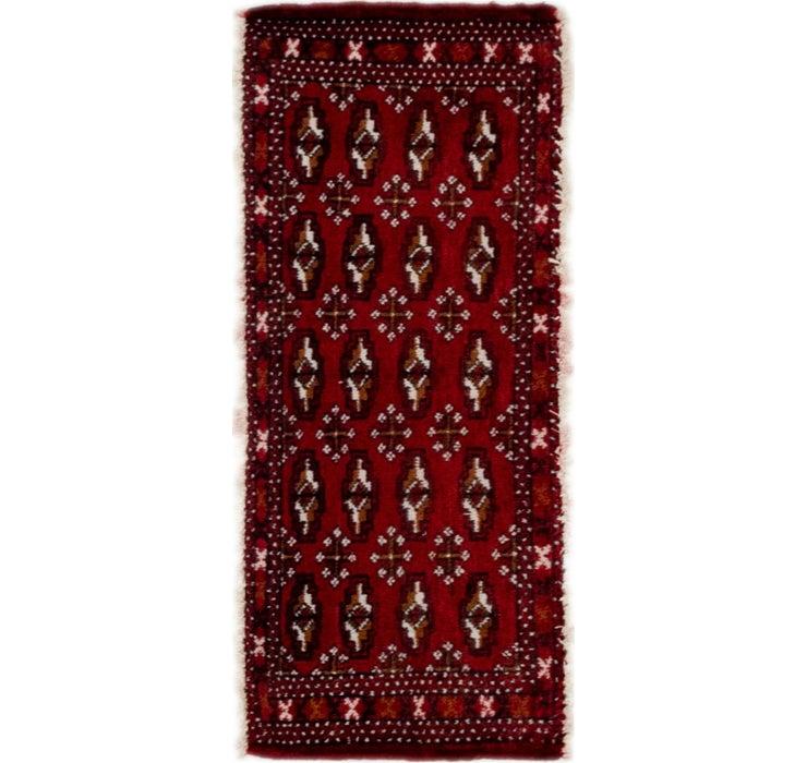1' 6 x 3' 6 Torkaman Persian Rug