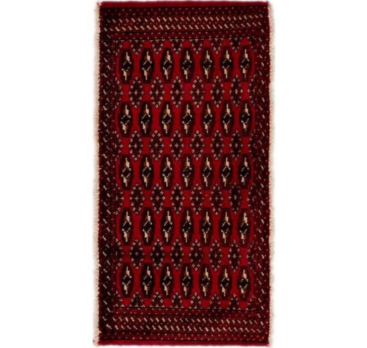1' 10 x 3' 7 Torkaman Persian Rug