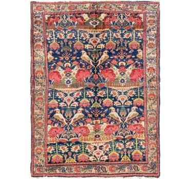 4' x 5' 8 Meshkabad Persian Rug main image