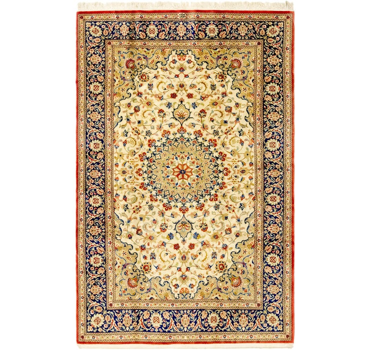 142cm x 218cm Isfahan Persian Rug