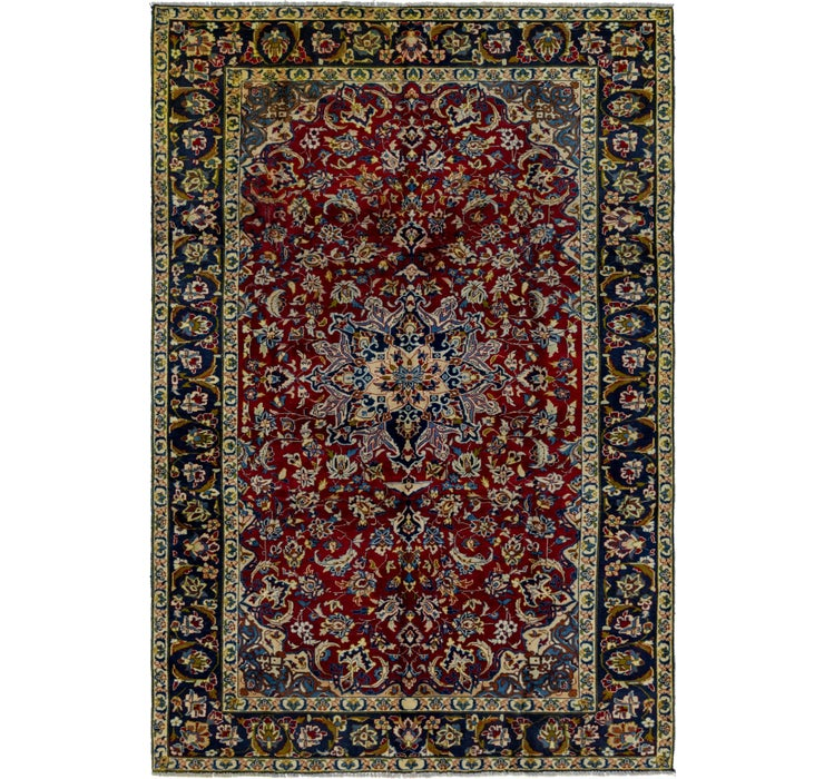 7' x 10' 9 Isfahan Persian Rug