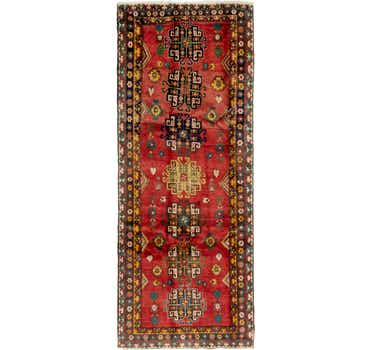 Image of 4' 6 x 11' Heriz Persian Runner Rug