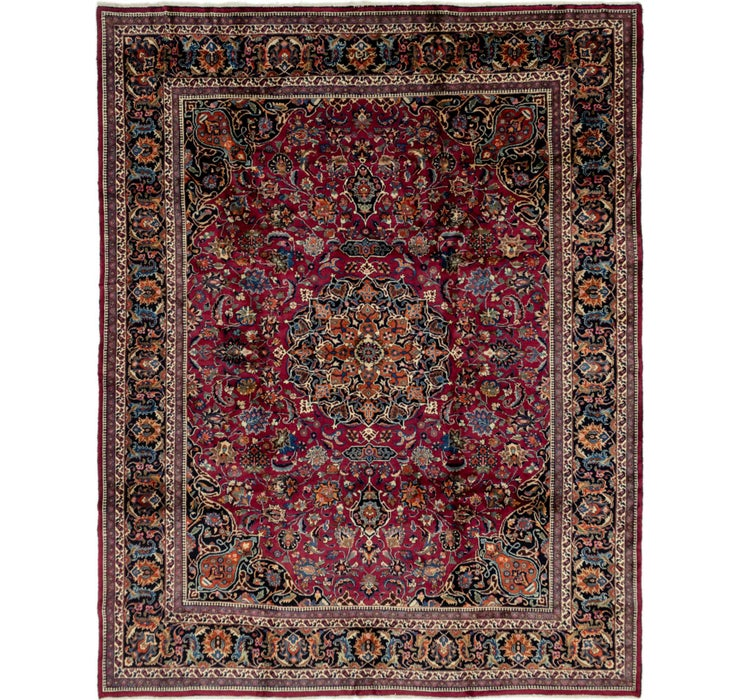 310cm x 395cm Mashad Persian Rug
