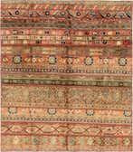 6' 5 x 7' 3 Patchwork Persian Rug thumbnail