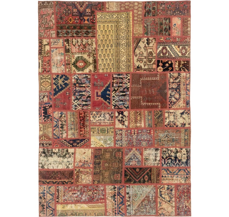 6' 5 x 9' 2 Patchwork Persian Rug