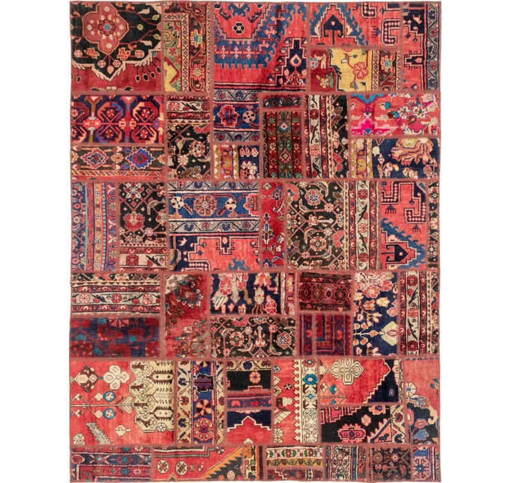 6' 4 x 8' 3 Patchwork Persian Rug