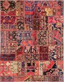 6' 4 x 8' 3 Patchwork Persian Rug thumbnail