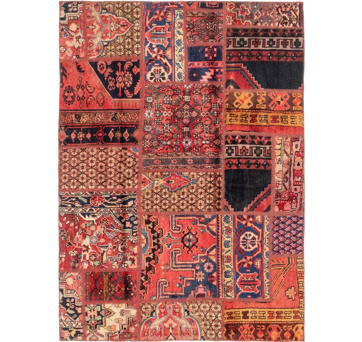 4' 7 x 6' 6 Patchwork Persian Rug