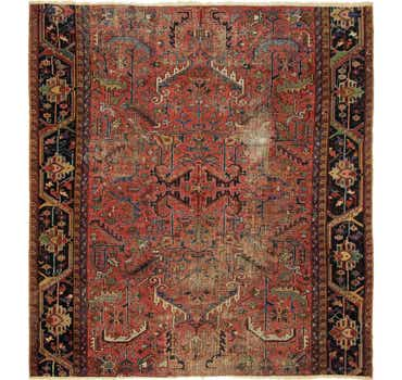 Image of 9' x 9' 9 Heriz Persian Square Rug