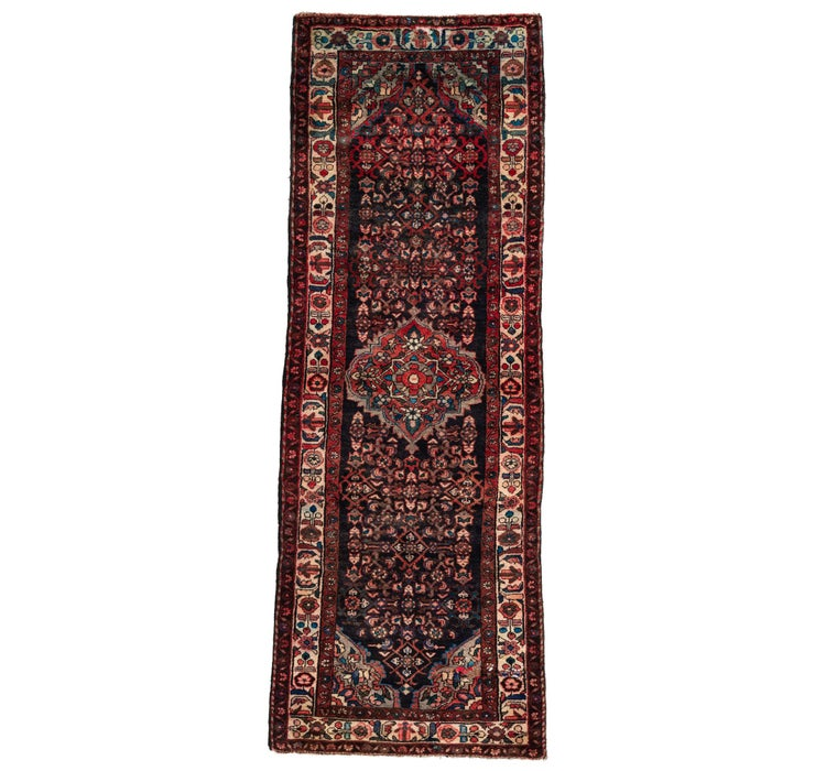 105cm x 287cm Hossainabad Persian Run...