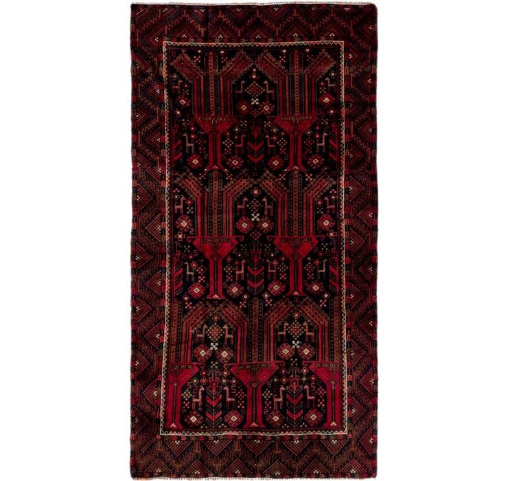Image of 3' 9 x 7' 2 Balouch Persian Runner ...
