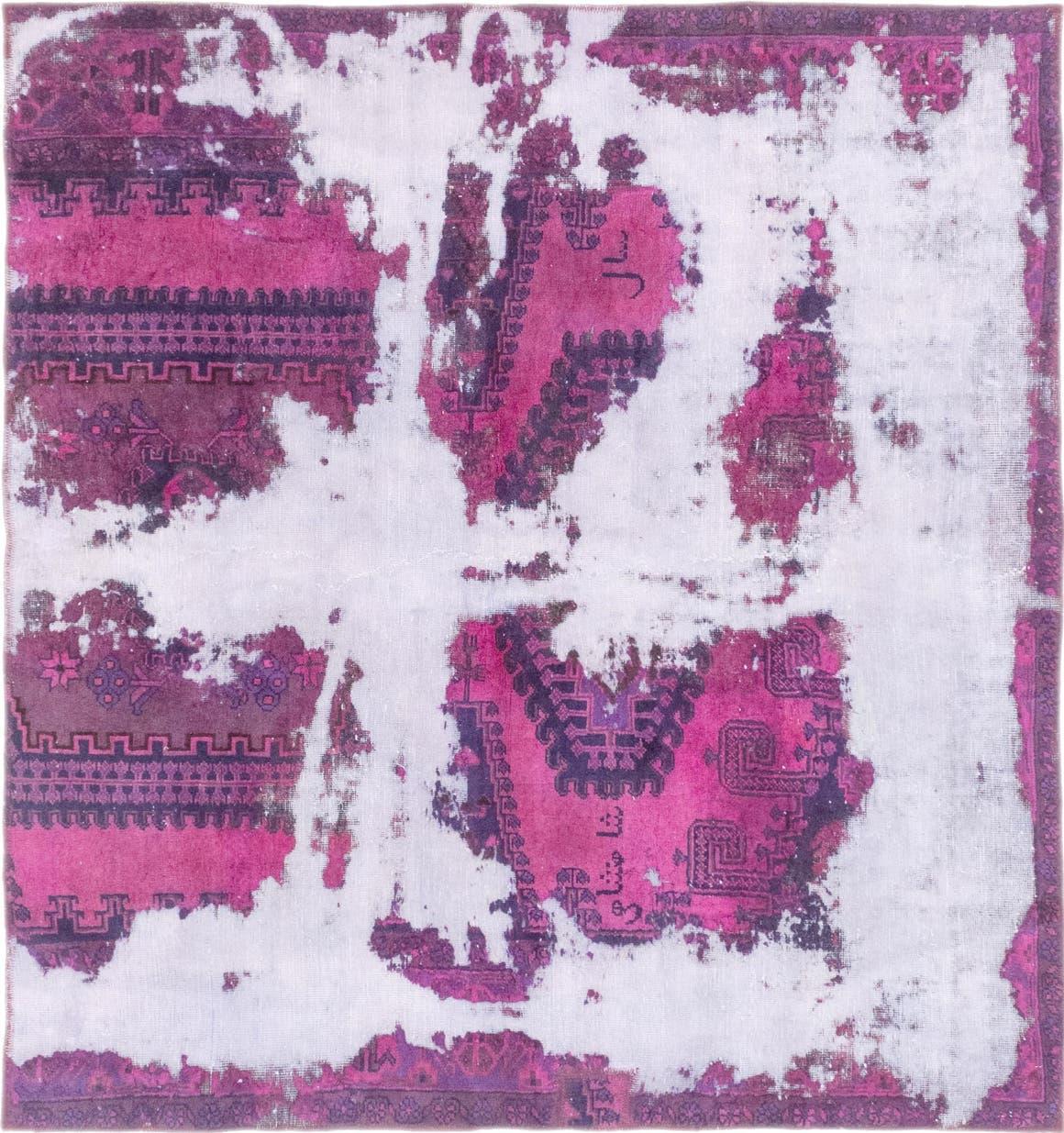 6' x 6' 7 Ultra Vintage Persian Square Rug main image