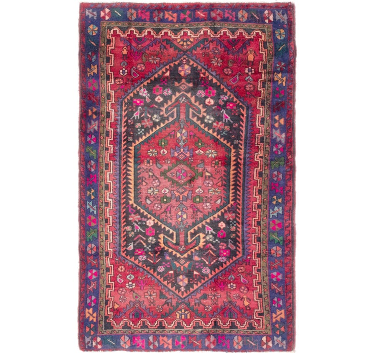 4' 3 x 7' Zanjan Persian Rug