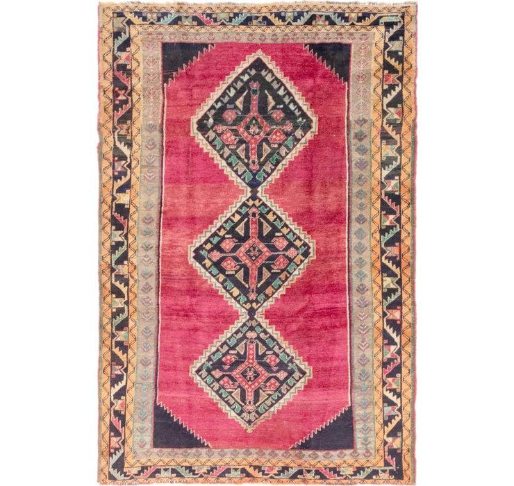 4' 10 x 7' 3 Shiraz-Lori Persian Rug