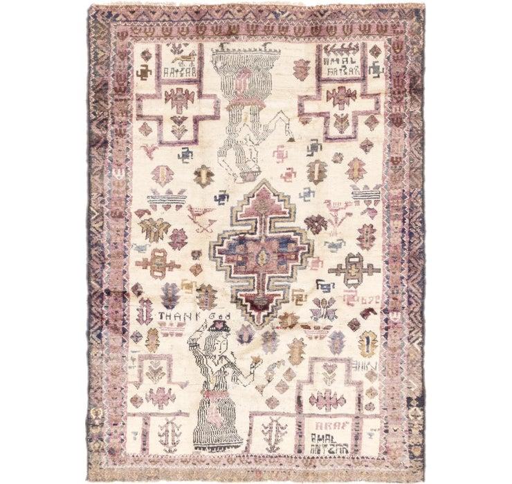 132cm x 195cm Shiraz-Lori Persian Rug