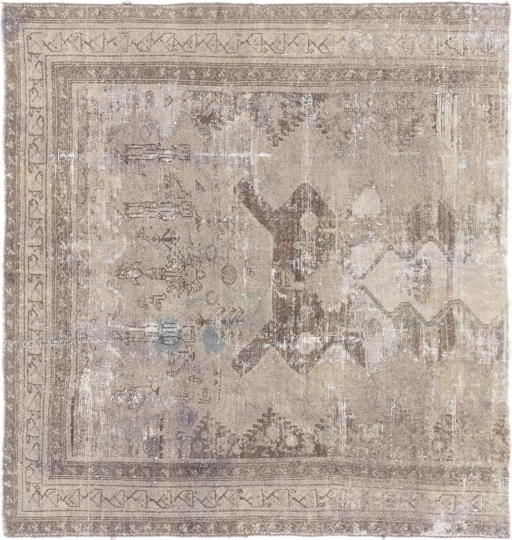 4' 8 x 5' Ultra Vintage Persian Square Rug main image