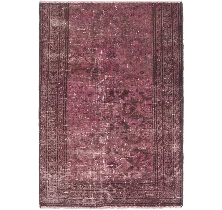 3' 4 x 4' 10 Ultra Vintage Persian Rug