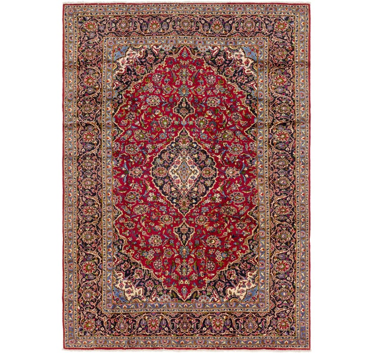 8' 7 x 12' Kashan Persian Rug