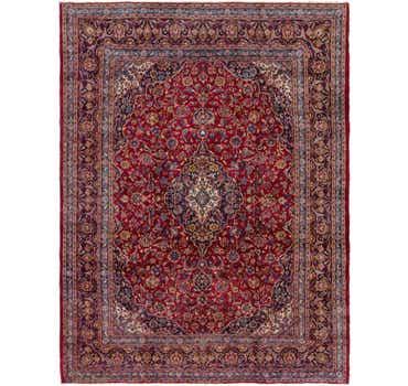 Image of 9' 5 x 12' 8 Mashad Persian Rug