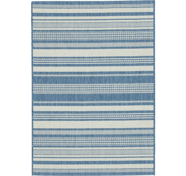 3' 9 x 5' 4 Outdoor Striped Rug