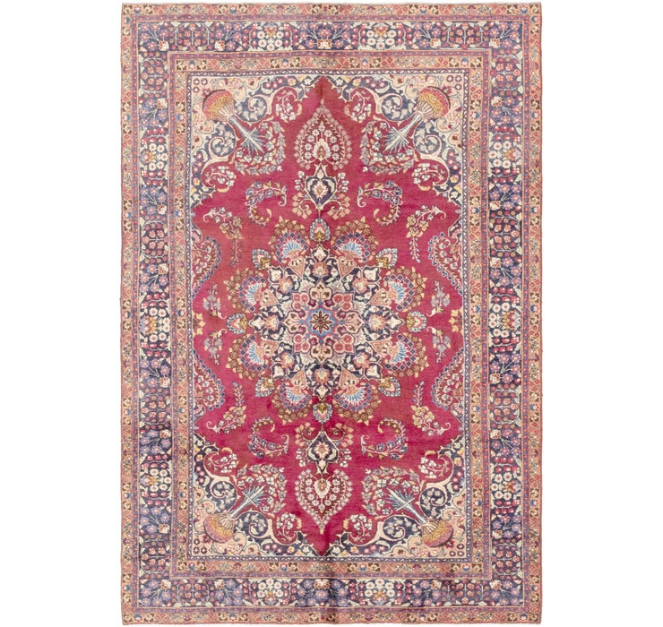 188cm x 285cm Mashad Persian Rug