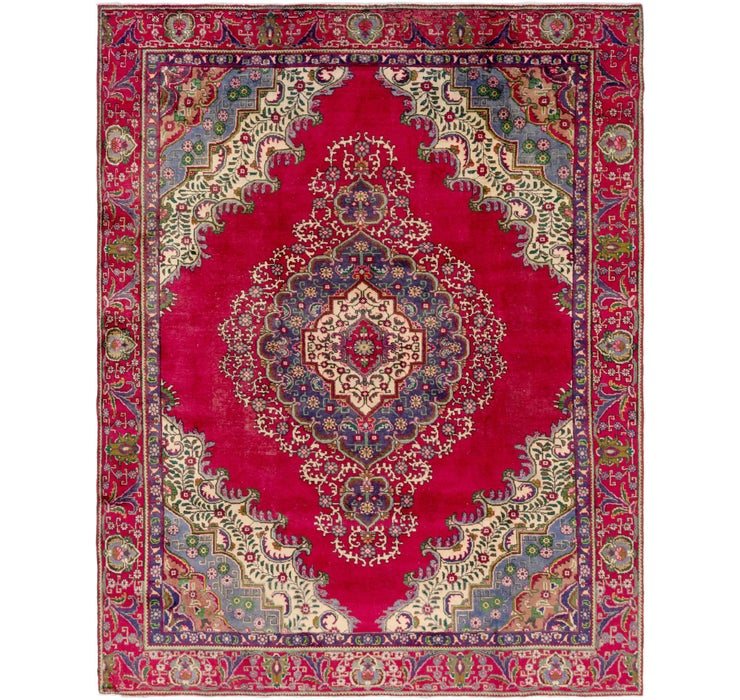 9' 2 x 11' 8 Tabriz Persian Rug