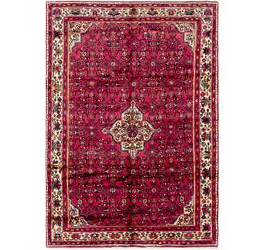 Image of 6' 9 x 9' 6 Hossainabad Persian Rug