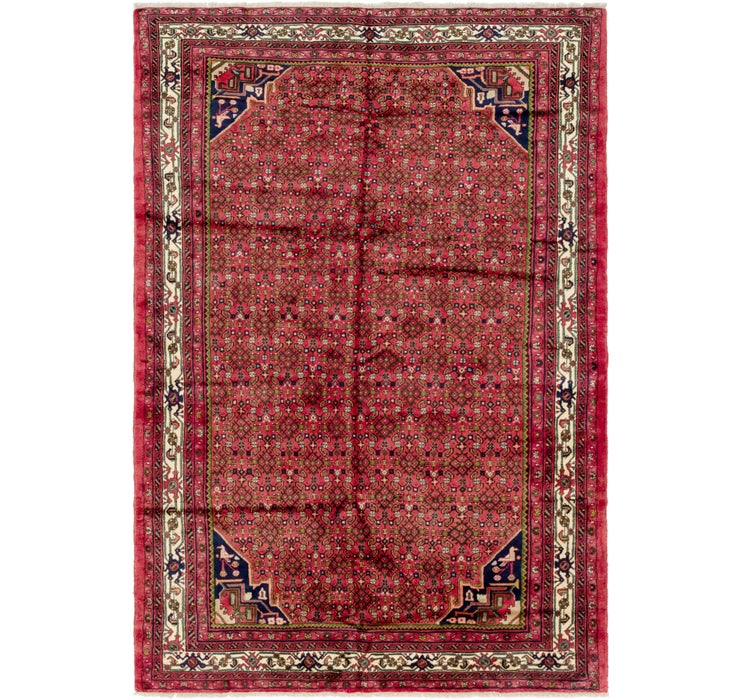 6' 5 x 9' 6 Hossainabad Persian Rug