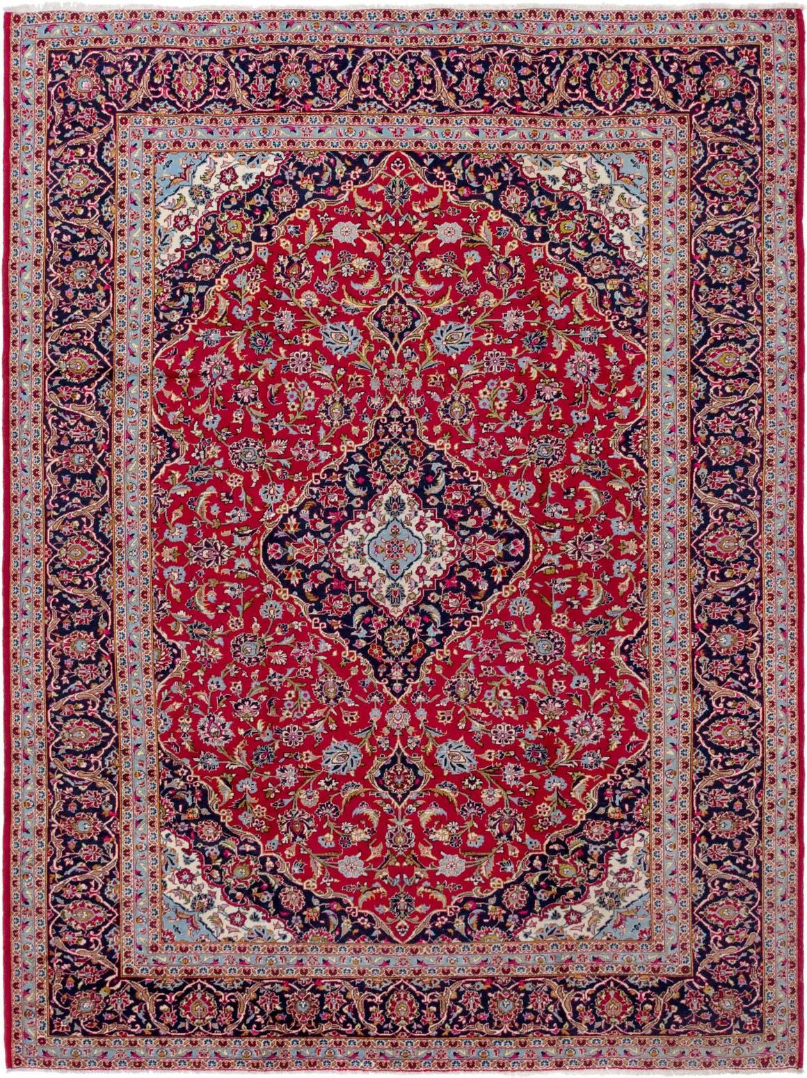 9' 10 x 13' 2 Kashan Persian Rug main image