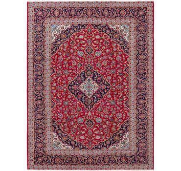 9' 10 x 13' 2 Kashan Persian Rug