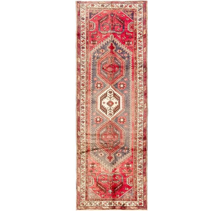 Image of 102cm x 305cm Zanjan Persian Runner Rug