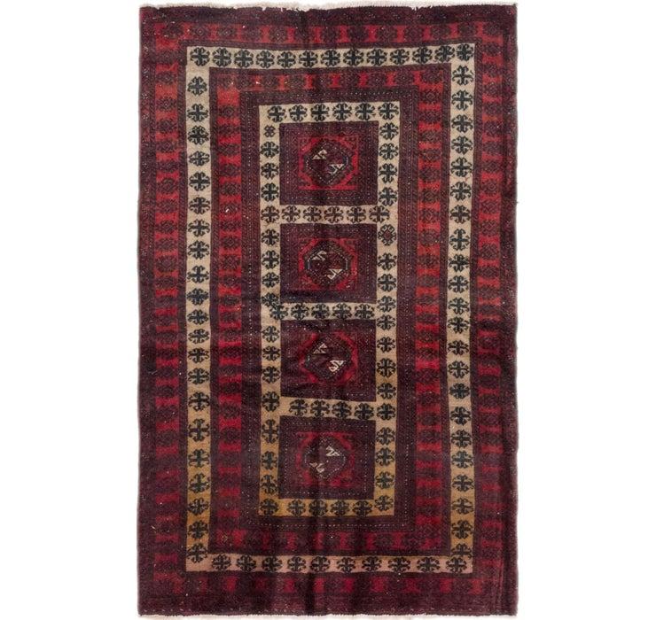 110cm x 183cm Balouch Persian Rug