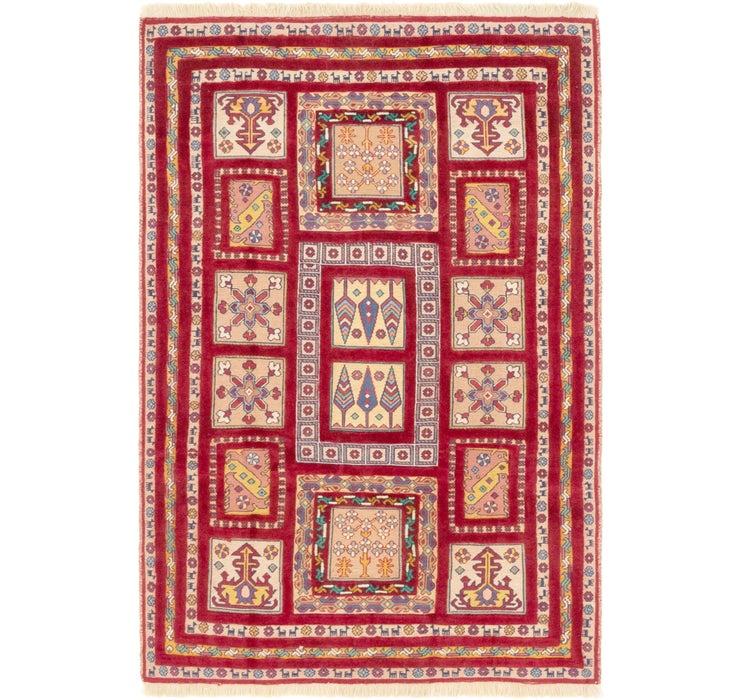 Image of 4' 8 x 7' Ghoochan Persian Rug