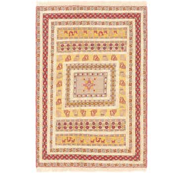 4' x 5' 10 Ghoochan Persian Rug