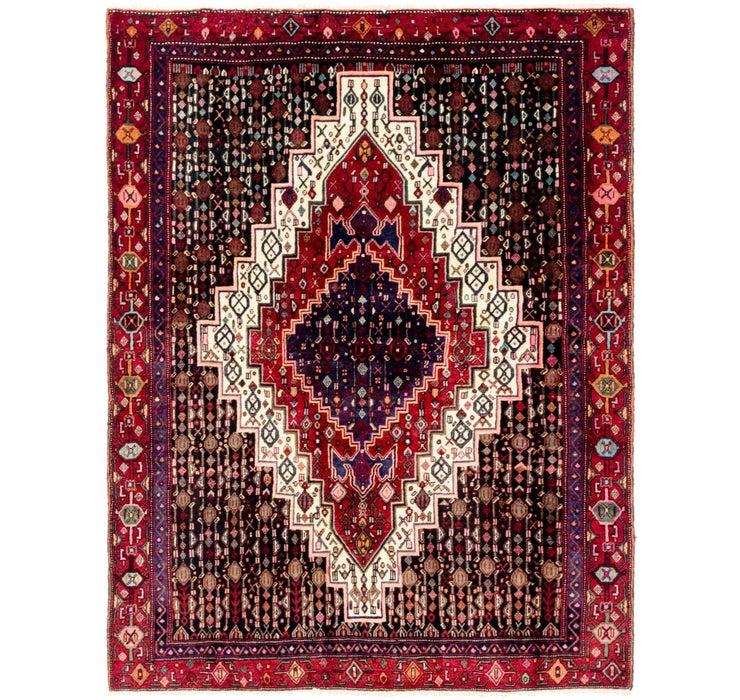 142cm x 183cm Senneh Persian Rug