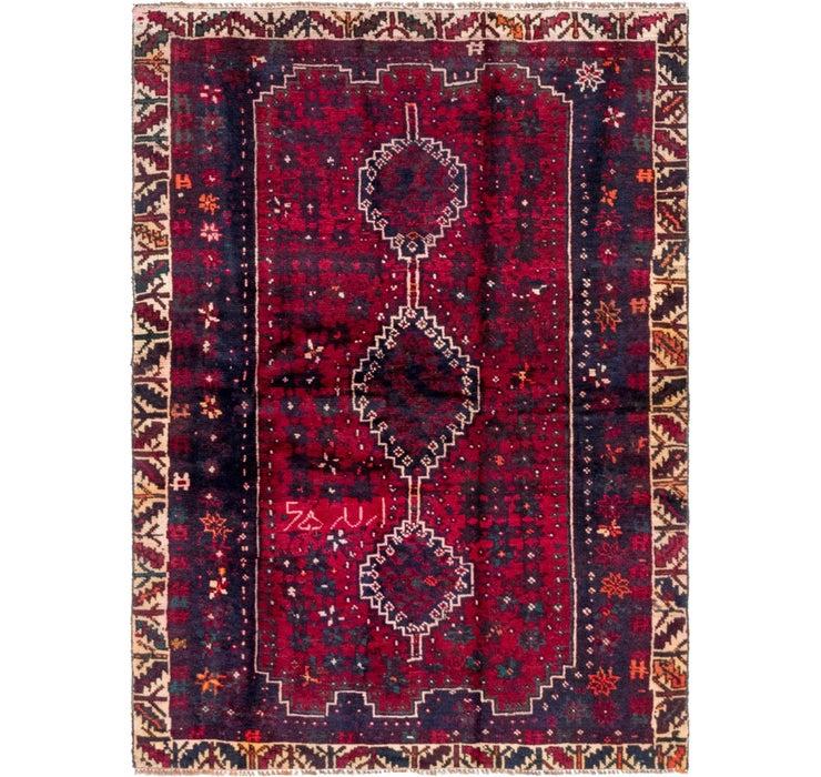 4' 5 x 6' Hamedan Persian Rug