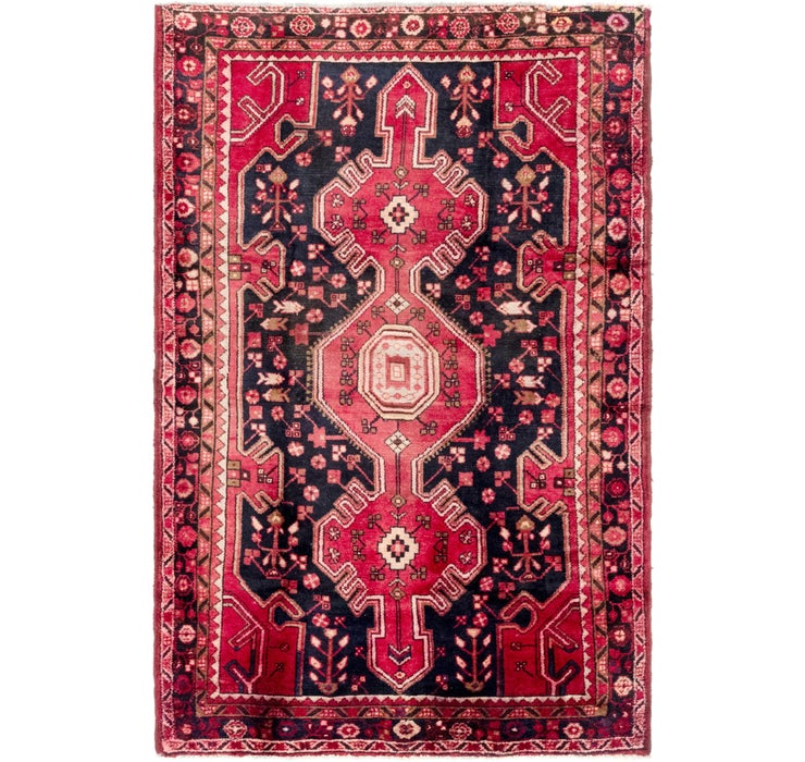 4' 8 x 7' 2 Hamedan Persian Rug