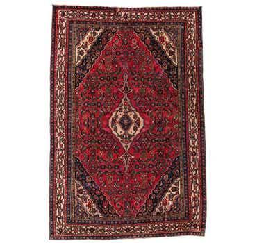 Image of 6' 7 x 10' Hamedan Persian Rug